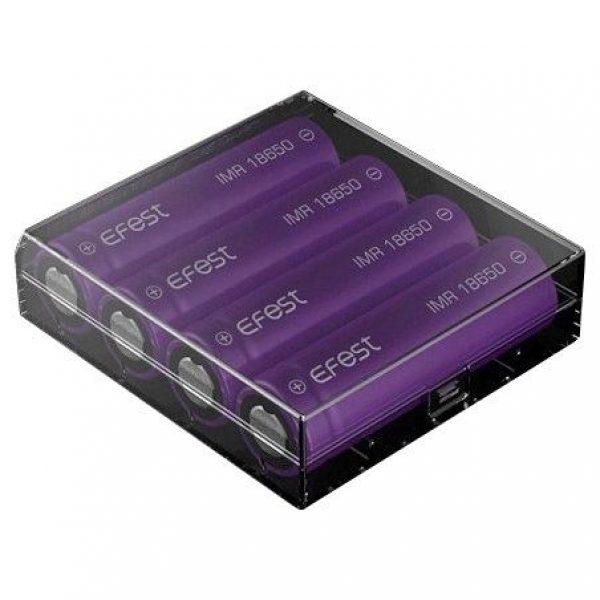 estuche protectos para 4 baterias 18650
