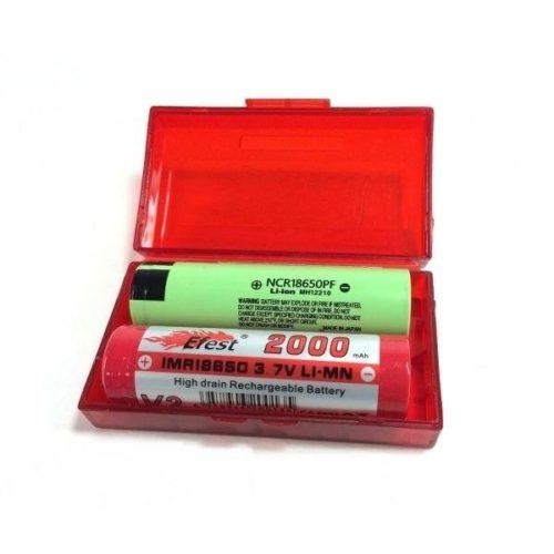 estuche seguridad efest para baterias 18650 18500 18350