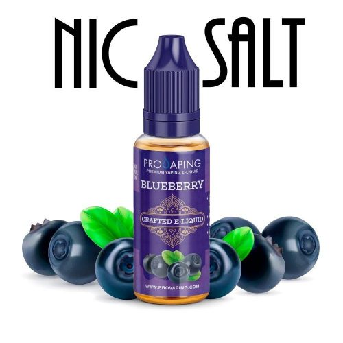 Blueberry nic salt e-liquid provaping