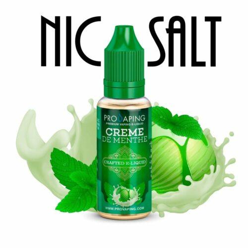 Crema de menta eliquid nic Salt Provaping