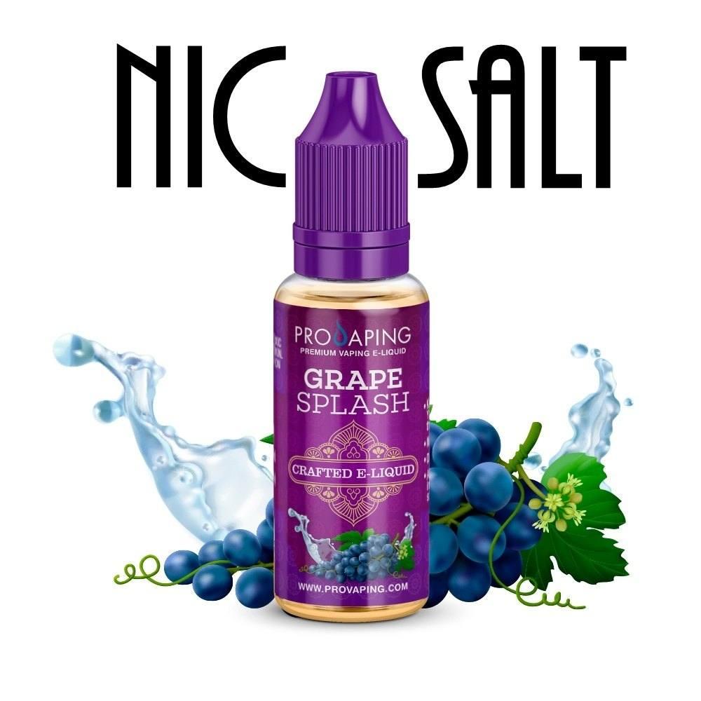 Grape Splash nic salt eliquid provaping