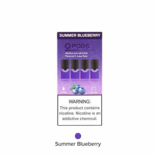 Qpods para juul sabor arándano blueberry