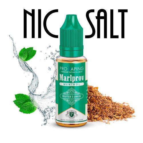 Marlprov Menthol nic salt eliquid provaping