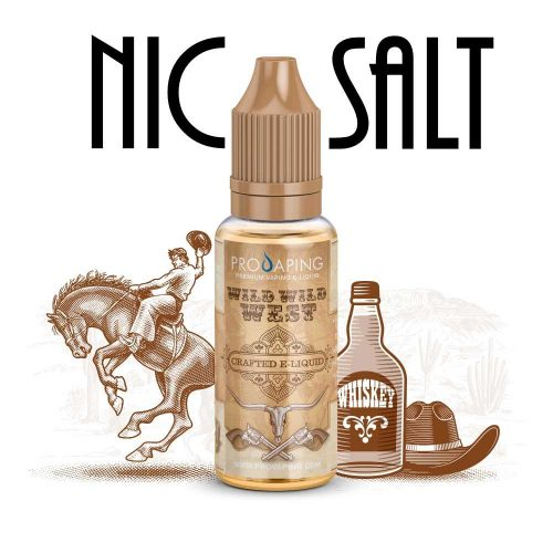 Wild Wild West tobacco nic salt eliquid provaping mexico
