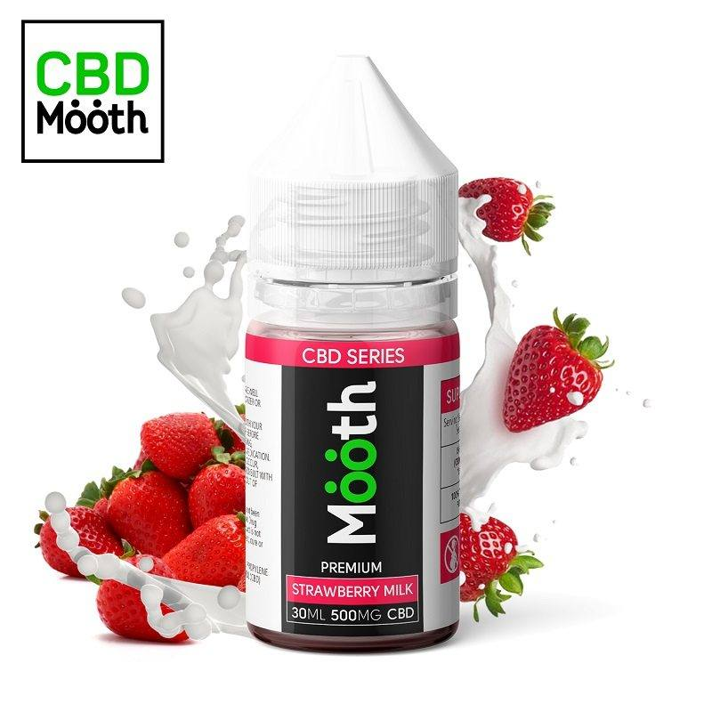 CBD 500mg. eliquid Strawberry Milk 30ml