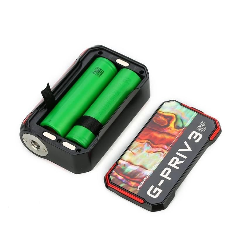 Smok G-PRIV 3 usa dos baterías 18650