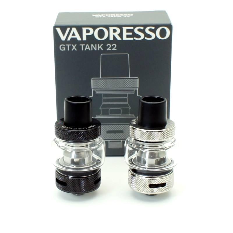 Vaporesso GTX tank 22 color acero y color negro